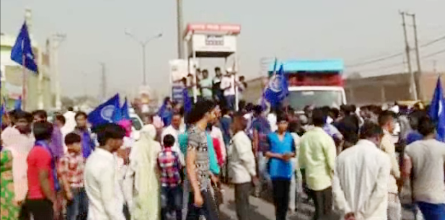 Faridabad, against the change in SC / ST Act