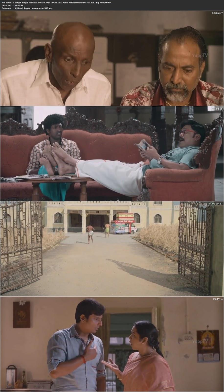 Sangili Bungili Kadhava Thorae 2017 Hindi Dubbed 400MB HDRip 480p at movies500.me