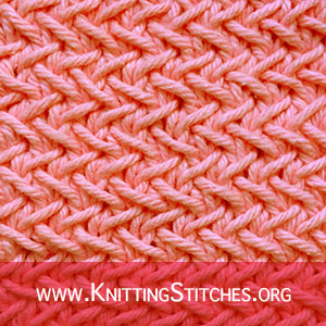 Herringbone stitch | Knitting Stitch Patterns. A really easy and quick knit