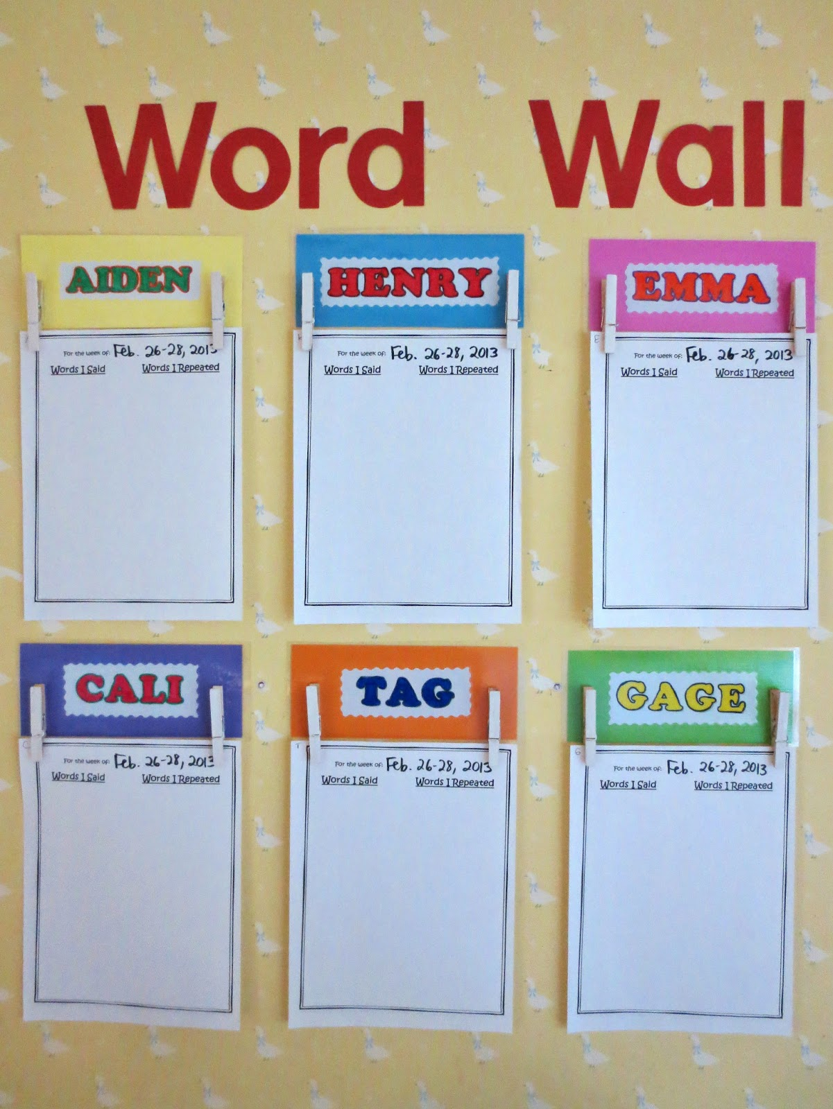Princesses Pies Amp Preschool Pizzazz Toddler Word Wall