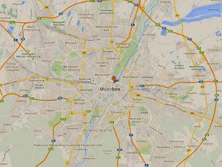 Hotel Adria Lage - Stadtplan München