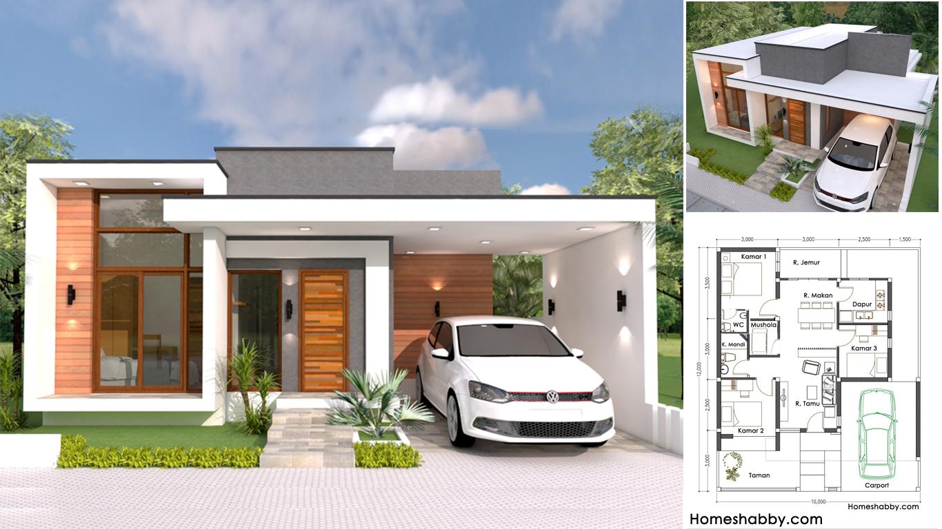 Desain dan Denah Rumah Minimalis Modern Lengkap Dengan Mushola