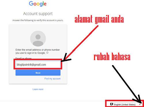 Cara Reset Password Sandi Gmail Yang Lupa Dengan Nomor Hp Blog