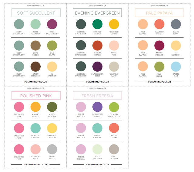 Color Coach Suggestions for 2021-2023 In Color Collection