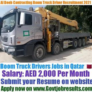 Al Deeb Contracting and Transporting Boom Truck Driver Recruitment 2021-22