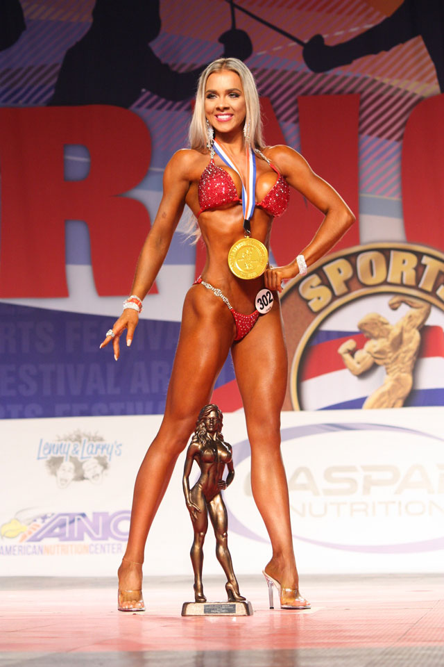 Fernanda Kunze, a Campeã Overall Bikini do Arnold Amateur 2016. Foto: Divulgação