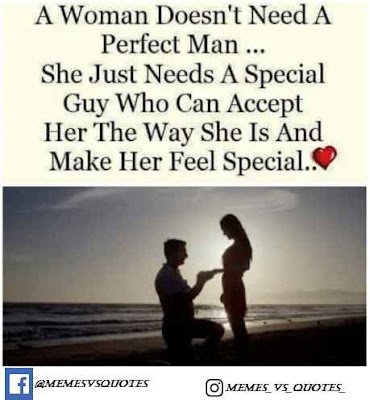 Women don't need a perfect man