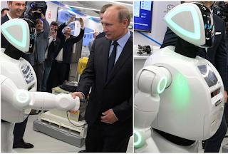 Notorious 'Runaway' Robot Shakes Russian President, Vladmir Putin During Meeting (Photos)