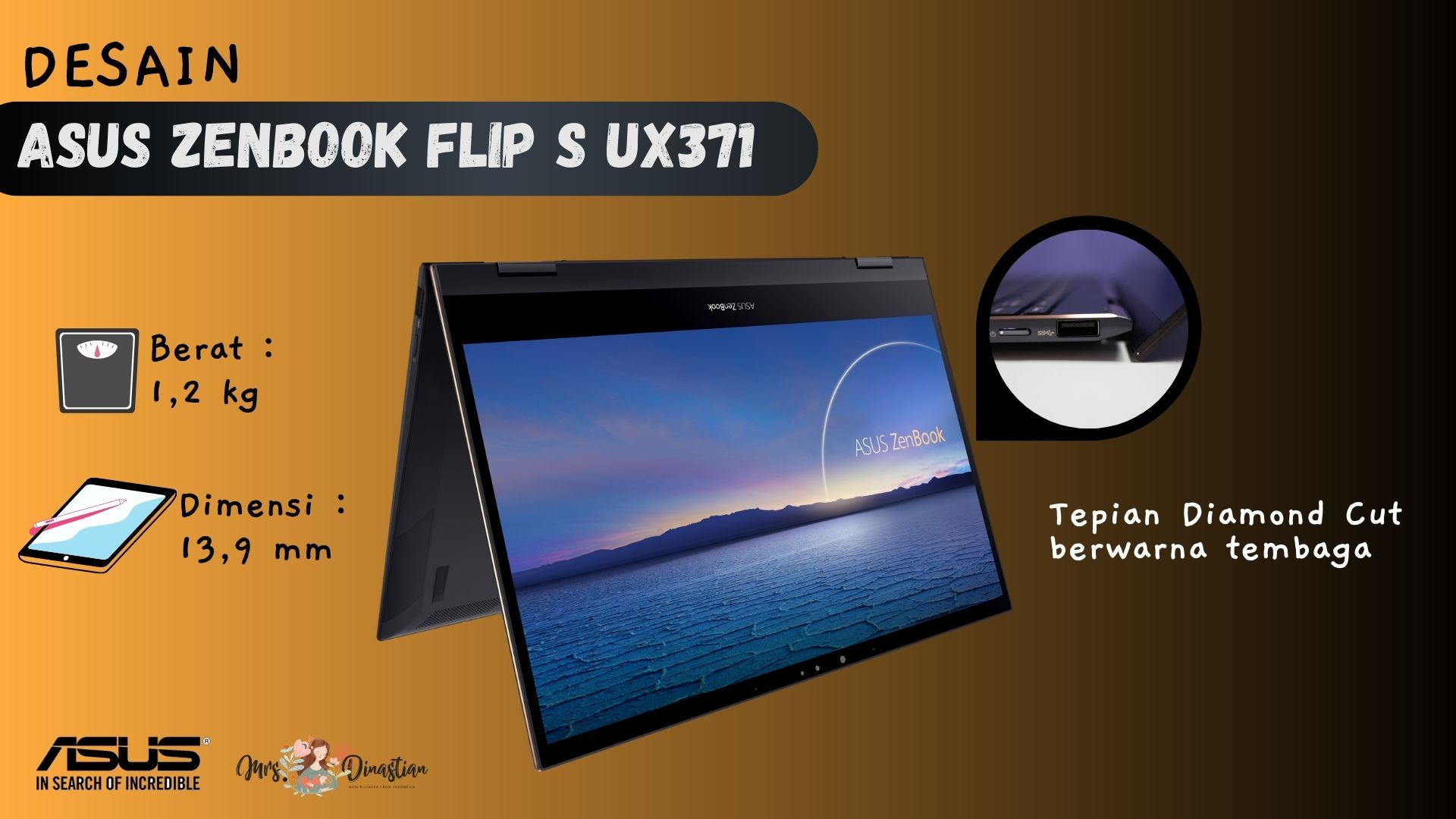Desain ASUS Zenbook Flip S UX371