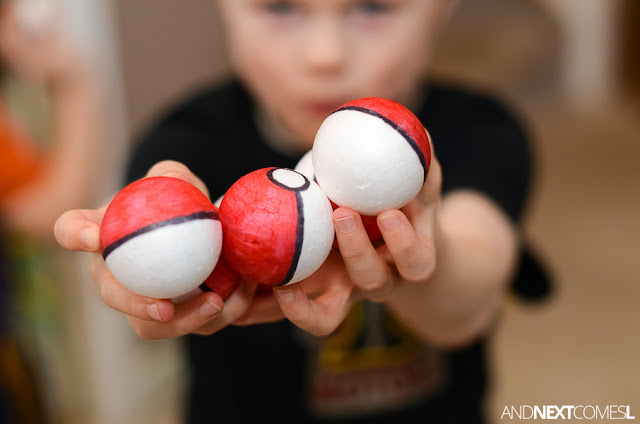 DIY Pokeballs for kids from And Next Comes L
