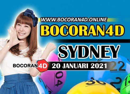 Bocoran Togel 4D Sydney 20 Januari 2021