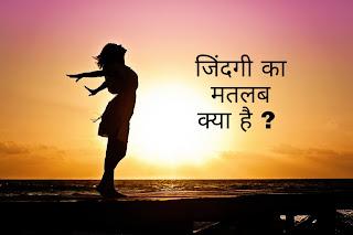 जिंदगी का मतलब क्या है ? Jindagee ka matalab kya hai.