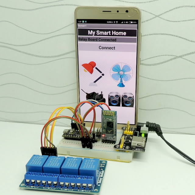 HC-05 luetooth arduino relay, smart home