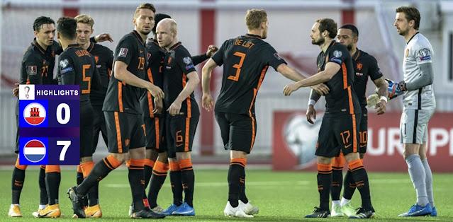 Gibraltar vs Netherlands – Highlights