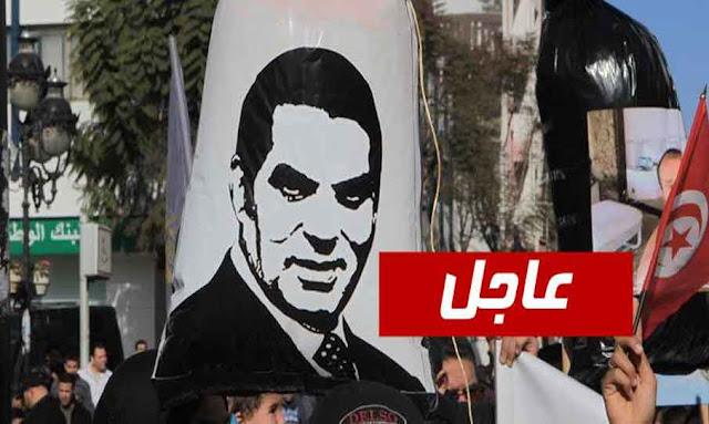 تونس: بالفيديو  مواطن يقتحم مظاهرة النهضة ويرفع وسطهم صورة بن علي ... والنهضاويين يعتدون عليه..