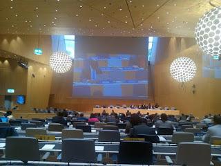 Le comité du développement et de la propriété intellectuelle en pleine séance