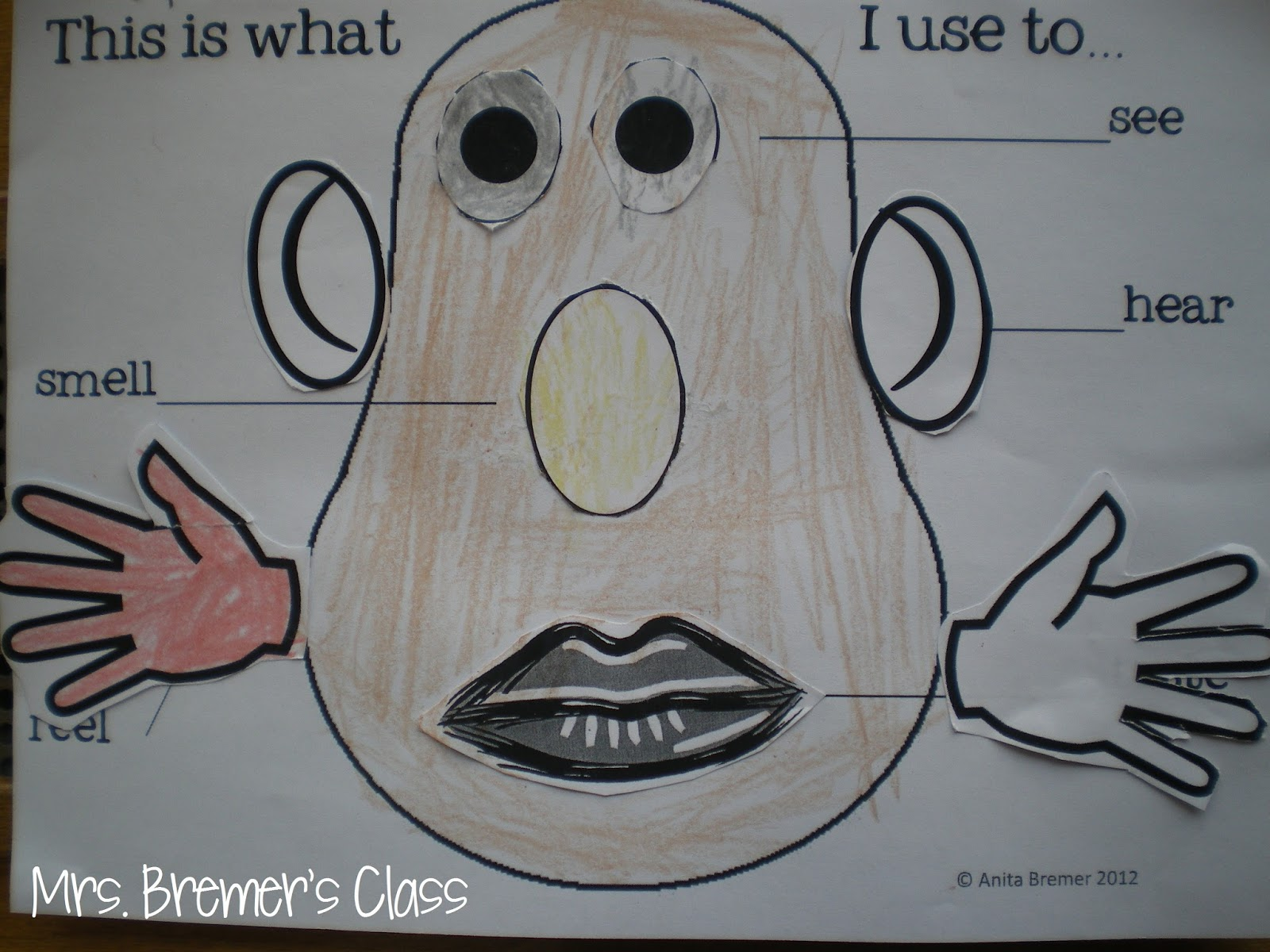 Mrs Bremer S Class 5 Senses Potato Head And We Can Do It Freebie