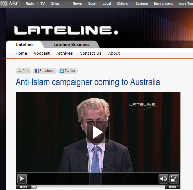 ABC hacked after anti-Islam politician Interview