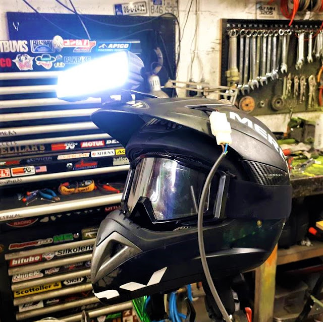 Mercenary Garage Custom LED Helmet Mounted Light Night Raid