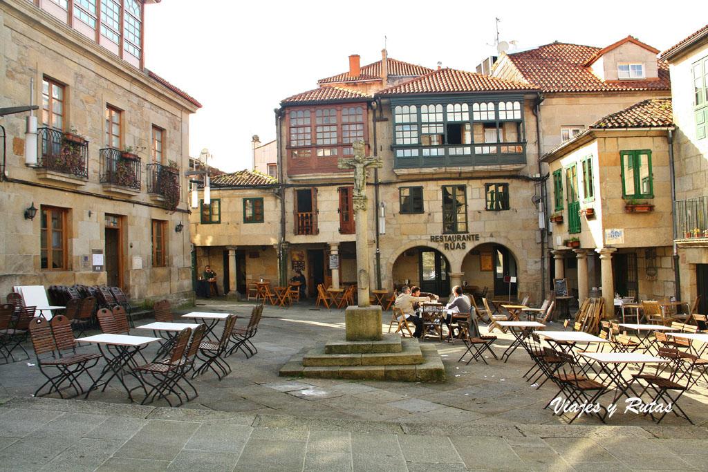 Cruceiro en plaza de Pontevedra