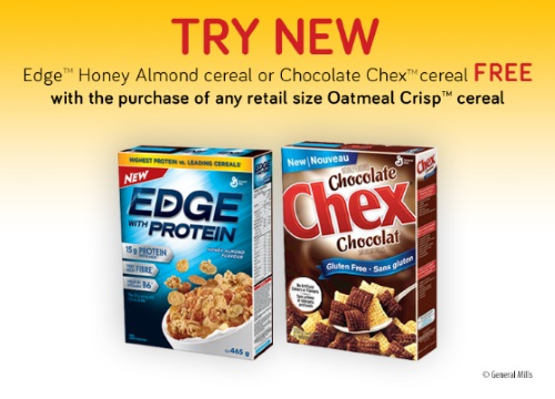 General Mills BOGO Free Edge Honey Almond or Chocolate Chex Cereal Coupon