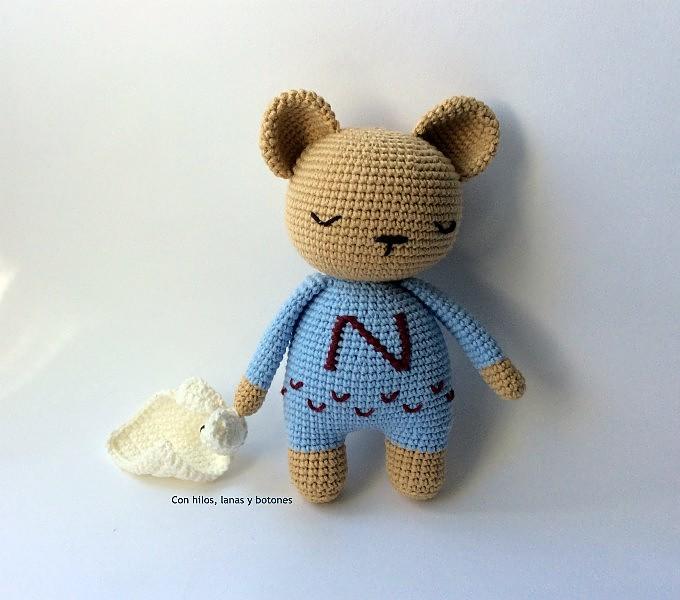 Con hilos, lanas y botones: Oso Samuel amigurumi