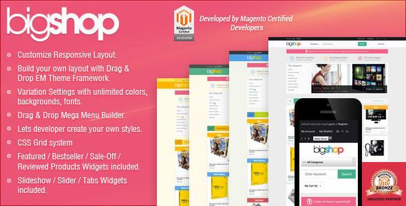 Responsive Magento Theme – Gala BigShop v1.0.2