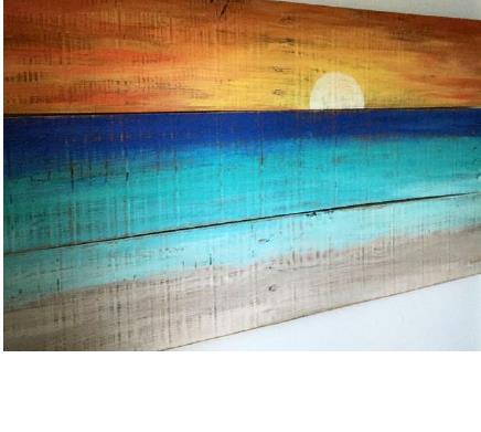 """Εύκολος τρόπος για να φτιάξετε εντυπωσιακές """"θαλασσογραφίες"""" σε ξύλο"""