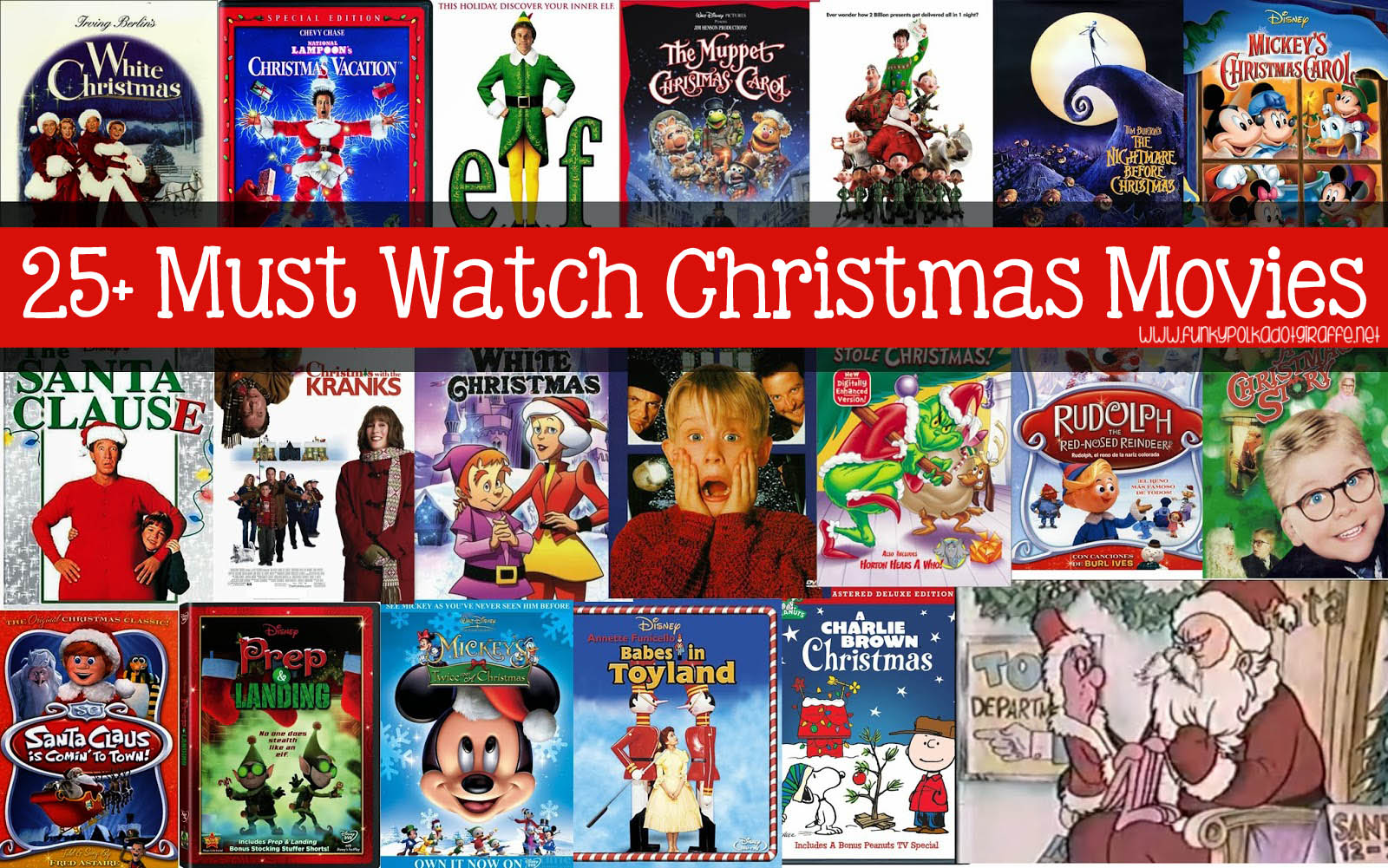 Funky Polkadot Giraffe: The ULTIMATE List of Must Watch Christmas Movies