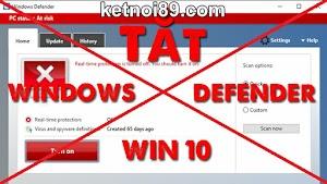 Cách Tắt Windows Defender trên Windows 10