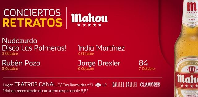 Llegan los conciertos retratos Mahou a Madrid