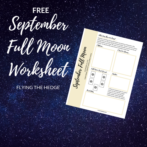 September Full Moon Worksheet