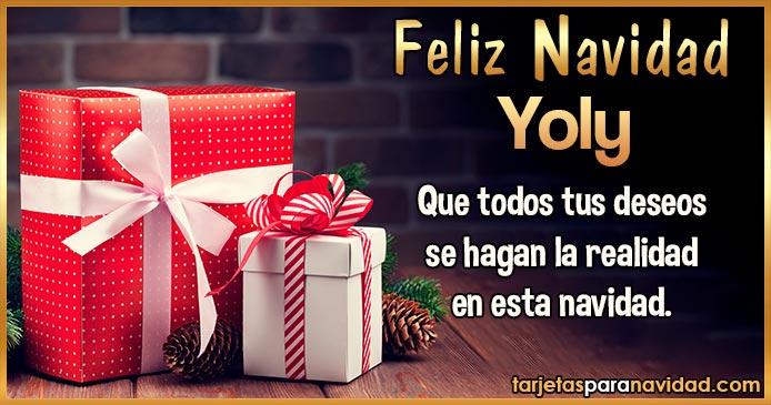 Feliz Navidad Yoly