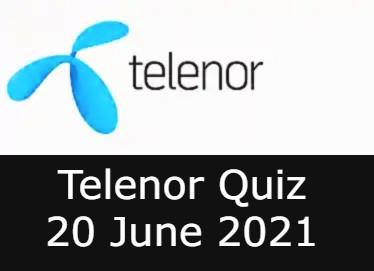 Telenor Quiz Answers 20 June