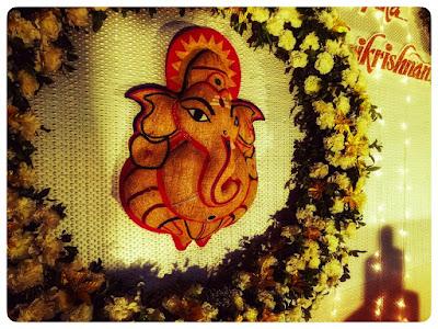 ganpati idol at wedding