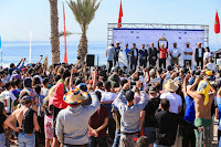 Pro taghazout Bay Podium with the winner Nat Young %2528USA%2529 and the runner up Alonso Correa %2528PER%2529 9460QSTaghazout20Masurel