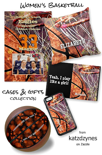 Women's basketball cases and gifts collection features a sporty girly basketball and hoop graphics design with a slight grunge effect, all blended with a purple and pink color palette and floral accents - personalize with her jersey number and/or name **Also included in this collection is a commemorative print to celebrate a successful basketball season