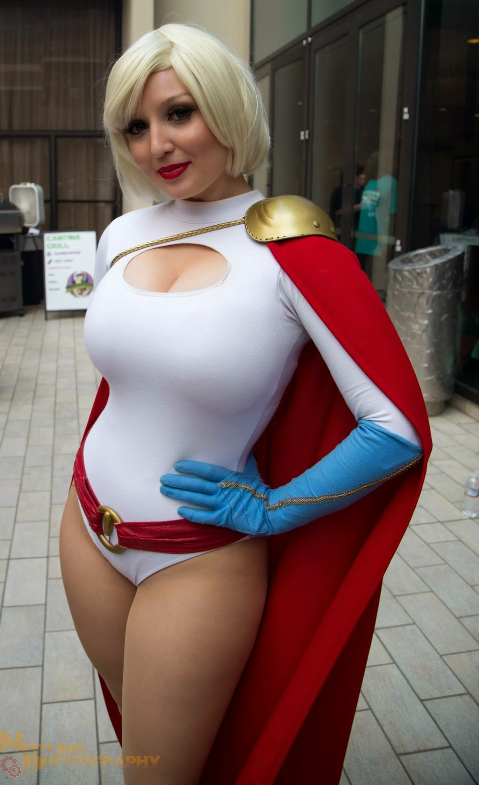 Whom Power girl cosplay huge something and
