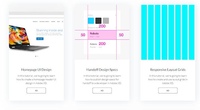 دورات و دروس لتتعلم التصميم بواسطة برنامج أدوبى XD