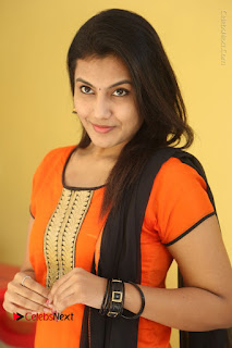 Telugu Actress Chandana Stills in Salwar Kameez at Karam Dosa Movie Press Meet  0059.JPG