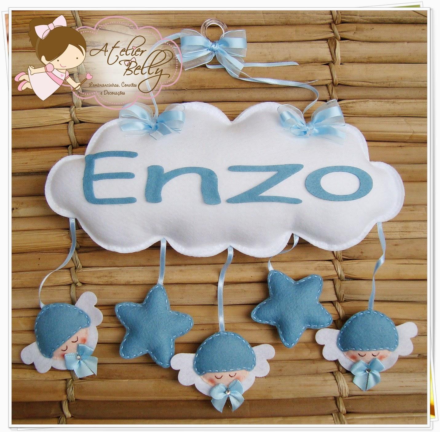 caaff6087eaaa Enfeite de porta maternidade - ANJINHO COM ESTRELAS Encomenda e orçamento   atelierbelly gmail.com
