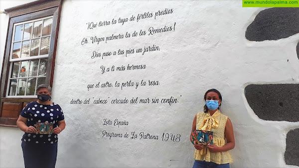 Rincones y fachadas del casco de Los Llanos de Aridane se llenan de frases para homenajear a La Patrona