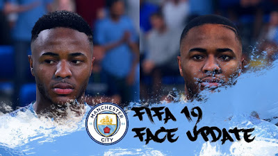 FIFA 19 Faces Raheem Sterling by CrazyRabbit