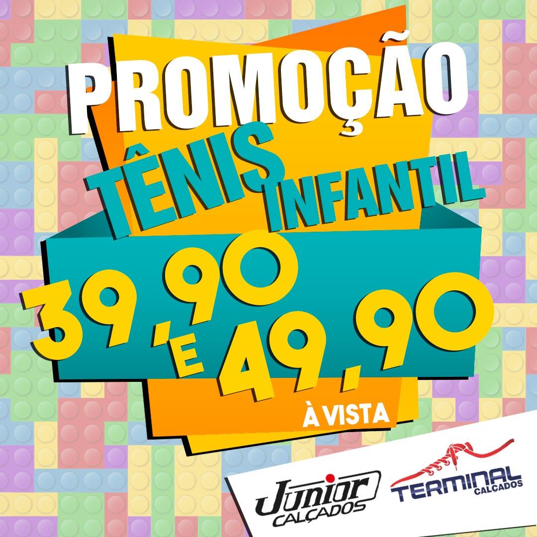 0de6287a5fe Junior e Terminal Calçados  Promoção Tênis Infantil