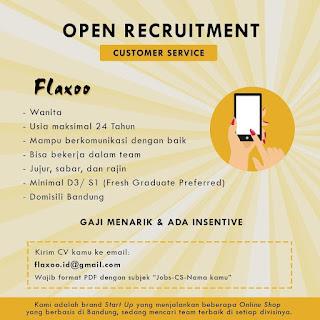 Info Lowongan Kerja Customer Service Flaxoo Bandung