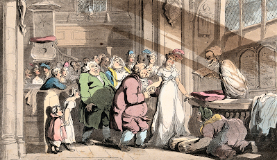 The dance of death: the wedding by T Rowlandson (1816) Wellcome Collection by Creative Commons (CC BY 4.0)