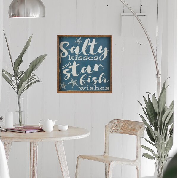 Salty Kisses And Starfish Wishes Beach House Wall Décor