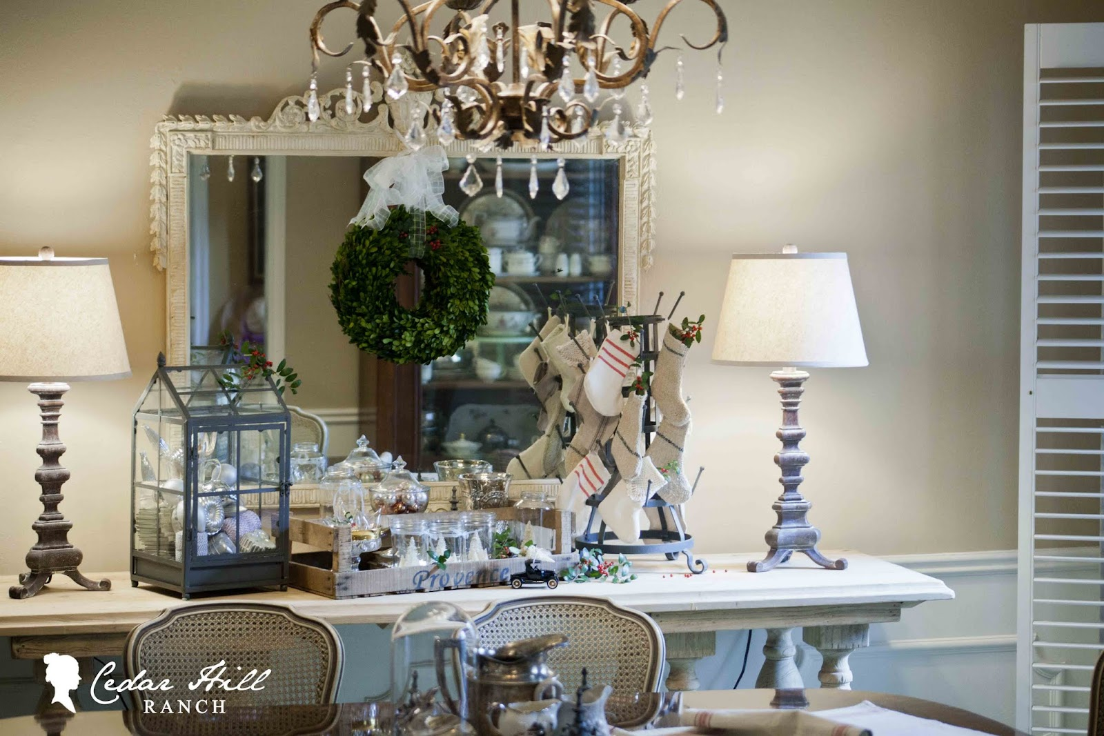 Cedar Hill Ranch: Happy Holidays in the Dining Room