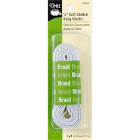Soft Stretch Baby Elastic - White - 1/4 inch