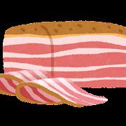 ベーコンのイラスト(薫製)